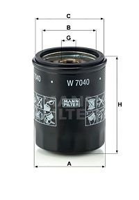 Original ISUZU Motorölfilter W 7040