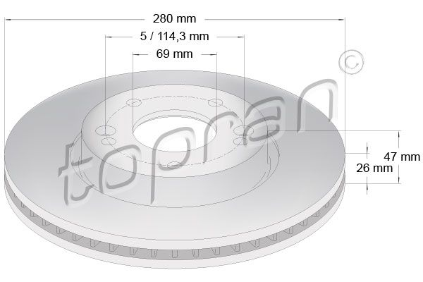 Kit dischi freno 820 376 TOPRAN — Solo ricambi nuovi