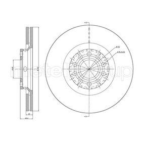 23-0726C METELLI belüftet, lackiert Ø: 312,0mm, Lochanzahl: 5, Bremsscheibendicke: 25,0mm Bremsscheibe 23-0726C günstig kaufen