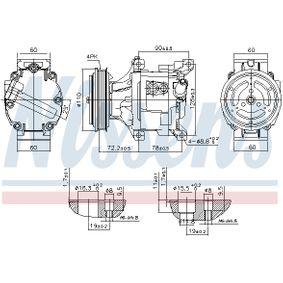 890079 Kompressor, Klimaanlage NISSENS in Original Qualität