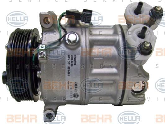 8FK 351 003-261 Klimaanlage Kompressor HELLA - Markenprodukte billig