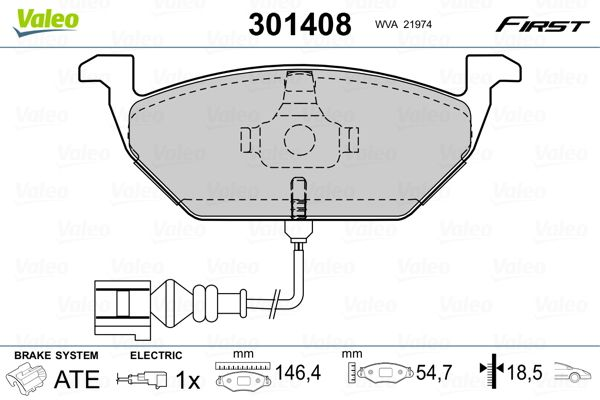 301408 Disk Pads VALEO - Experience and discount prices
