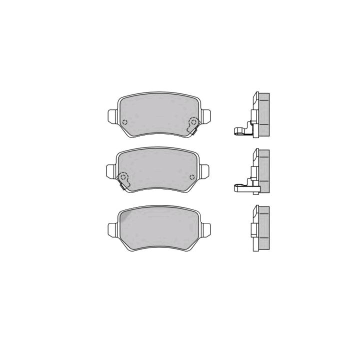 301584 Bremsbeläge VALEO 301584 - Große Auswahl - stark reduziert