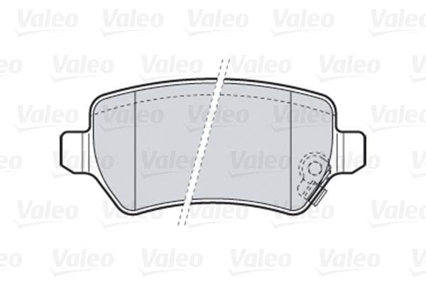 301584 Bremsbelagsatz, Scheibenbremse VALEO Test