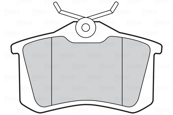 Peugeot 308 2018 Disk brake pads VALEO 301463: FIRST, Rear Axle, excl. wear warning contact, with anti-squeak plate