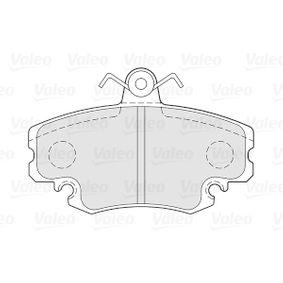 301002 Bremsbelagsatz, Scheibenbremse VALEO in Original Qualität