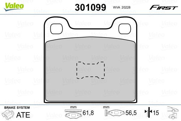 Bremsklötze VALEO 301099