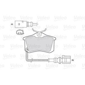 301180 Bremsbelagsatz, Scheibenbremse VALEO in Original Qualität