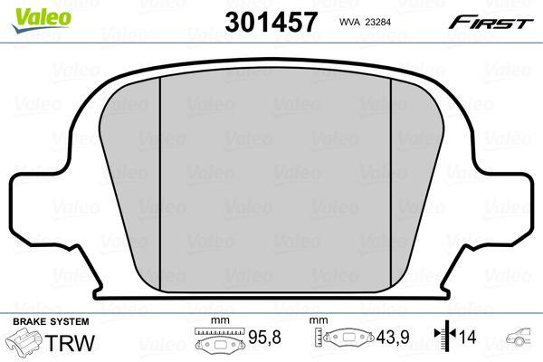 Bremsbelagsatz VALEO 301457