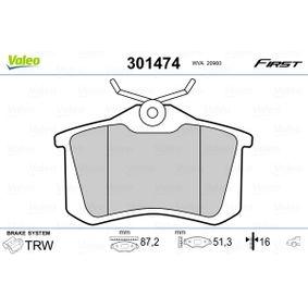 301474 Bremsbelagsatz, Scheibenbremse VALEO - Markenprodukte billig
