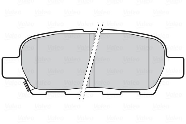 NISSAN QASHQAI 2014 Bremsbelagsatz - Original VALEO 301672 Höhe: 37,9mm, Breite: 105,6mm, Dicke/Stärke: 14,2mm