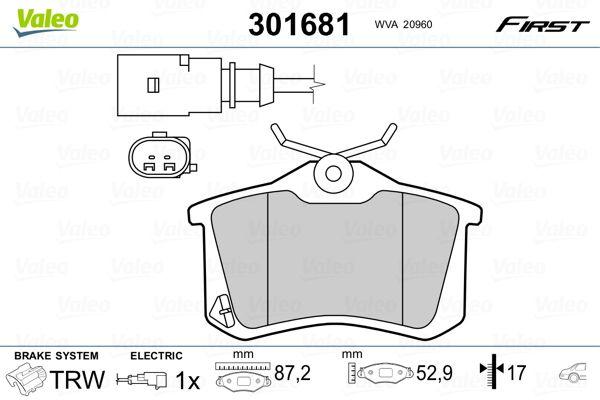 Bremsbelagsatz VALEO 301681