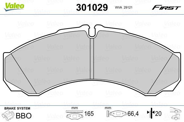 Buy VALEO Brake Pad Set, disc brake 301029 for IVECO at a moderate price