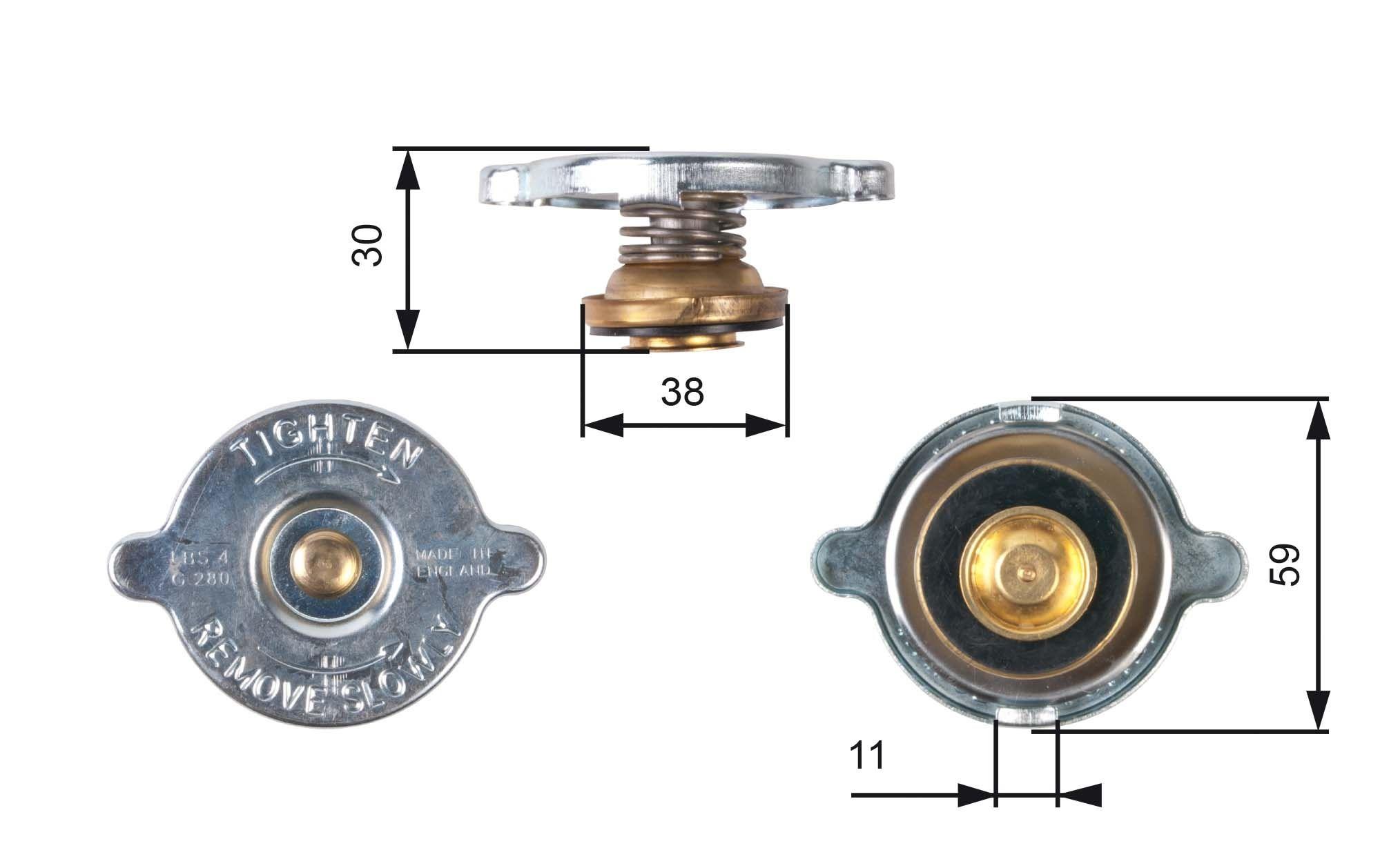 Kühlerdeckel GATES RC101