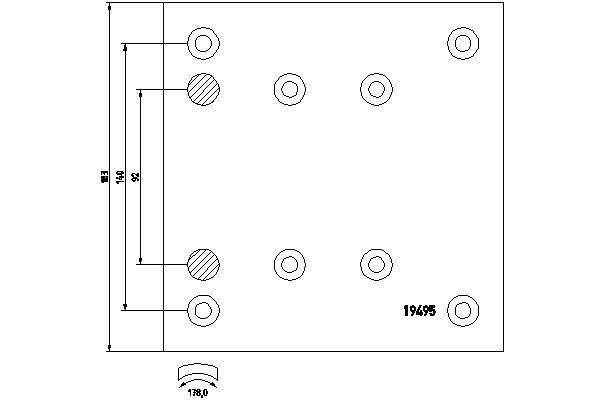 TEXTAR Bremsbelagsatz, Trommelbremse für MAN - Artikelnummer: 1949502