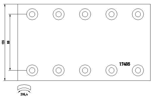 Bremsbelagsatz, Trommelbremse TEXTAR 1740501 mit 16% Rabatt kaufen