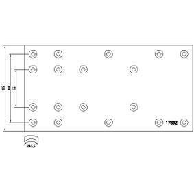 TEXTAR Kit materiale d'attrito, Freno a tamburo 1783102: compri online