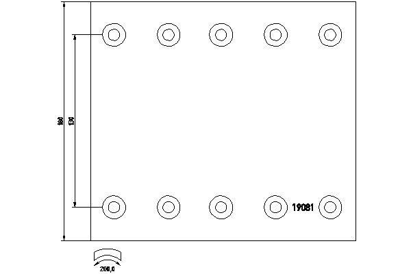 TEXTAR Bremsbelagsatz, Trommelbremse für DENNIS - Artikelnummer: 1908101