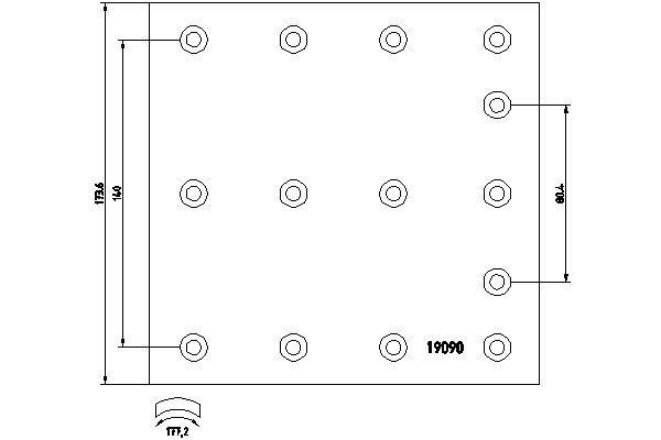 TEXTAR Bremsbelagsatz, Trommelbremse für DENNIS - Artikelnummer: 1909007