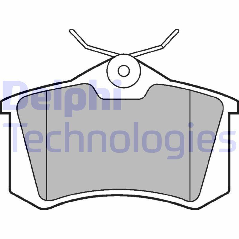 Scheibenbremsbeläge DELPHI LP2254
