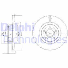 BG2827C DELPHI belüftet Ø: 277mm, Lochanzahl: 5, Bremsscheibendicke: 24mm Bremsscheibe BG2827C günstig kaufen