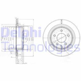 BG3765C DELPHI belüftet Ø: 292mm, Lochanzahl: 5, Bremsscheibendicke: 16mm Bremsscheibe BG3765C günstig kaufen