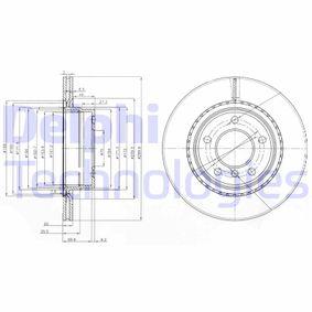 BG3901C DELPHI ventilado Ø: 300mm, Núm. orificios: 5, Espesor disco freno: 20mm Disco de freno BG3901C a buen precio