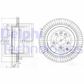 BG3925C DELPHI ventilado Ø: 350mm, Núm. orificios: 5, Espesor disco freno: 20mm Disco de freno BG3925C a buen precio
