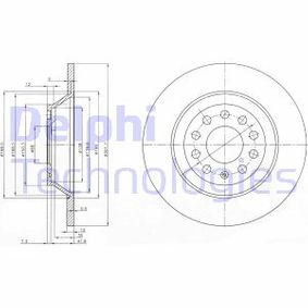 BG3956C DELPHI Macizo, revestido Ø: 302mm, Núm. orificios: 5, Espesor disco freno: 12mm Disco de freno BG3956C a buen precio
