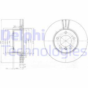 BG3998C DELPHI ventilado Ø: 300mm, Núm. orificios: 5, Espesor disco freno: 24mm Disco de freno BG3998C a buen precio
