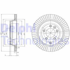 BG4020C DELPHI ventilado Ø: 325mm, Núm. orificios: 5, Espesor disco freno: 20mm Disco de freno BG4020C a buen precio