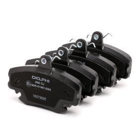 LP885 Bremsbelagsatz, Scheibenbremse DELPHI D11468256 - Große Auswahl - stark reduziert