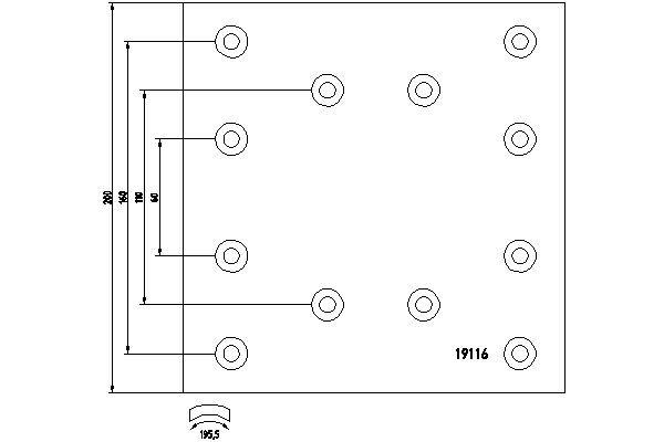 TEXTAR Bremsbelagsatz, Trommelbremse für IVECO - Artikelnummer: 1911602