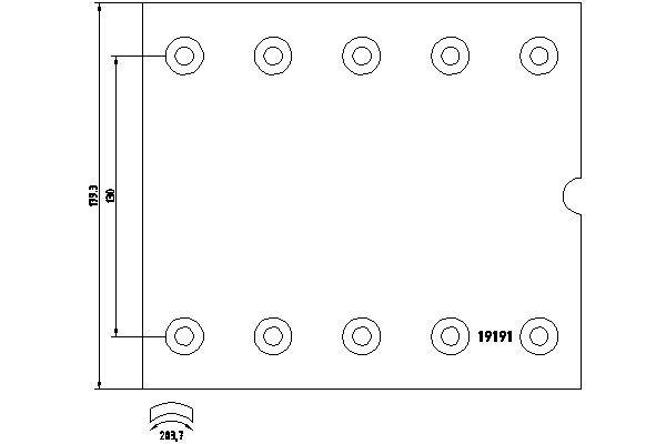 TEXTAR Bremsbelagsatz, Trommelbremse für RENAULT TRUCKS - Artikelnummer: 1919101
