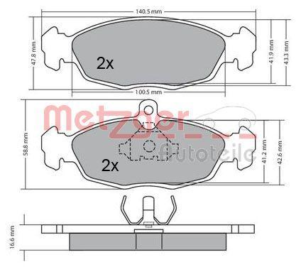 METZGER Brake Pad Set, disc brake 1170015