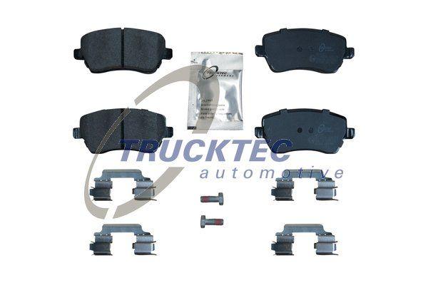 02.35.449 TRUCKTEC AUTOMOTIVE Vorderachse, exkl. Verschleißwarnkontakt Höhe: 52,4mm Bremsbelagsatz, Scheibenbremse 02.35.449 günstig kaufen