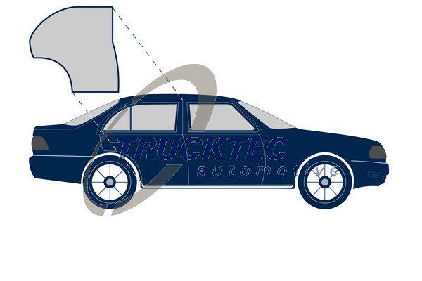 Mercedes E-Class 1997 Rubber door seal TRUCKTEC AUTOMOTIVE 02.53.143: