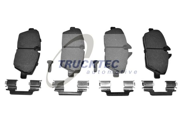 08.34.120 TRUCKTEC AUTOMOTIVE Vorderachse Bremsbelagsatz, Scheibenbremse 08.34.120 günstig kaufen
