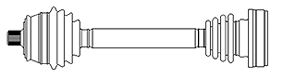Antriebswelle METELLI 17-1064