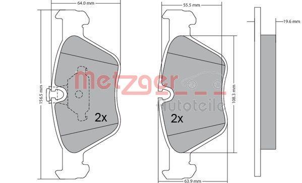 Bremsbelagsatz METZGER 1170086