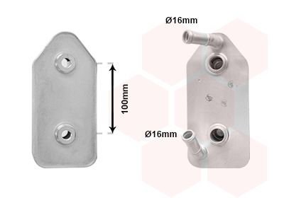 Getriebe Ölkühler VAN WEZEL 03003356