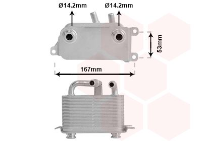 VAN WEZEL: Original Getriebe Ölkühler 06003401 ()