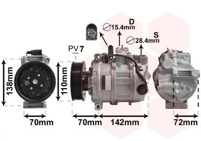 Kompressor Klimaanlage VAN WEZEL 0300K381
