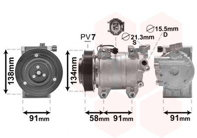 VAN WEZEL Klimakompressor 1300K344