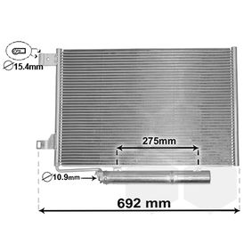 FRIGAIR Kondensator f/ür Klimaanlage 0806.2091