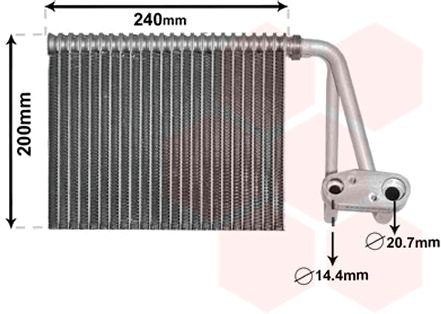 RENAULT 9 Verdampfer Klimaanlage - Original VAN WEZEL 4300V566