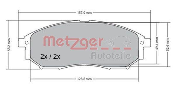 Scheibenbremsbeläge METZGER 1170101