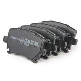 402B0010 Bremsbelagsatz, Scheibenbremse RIDEX - Markenprodukte billig