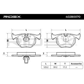 Set di pastiglie dei freni Pastiglie Freno posteriore BMW z4 e85 e86 M 3.2 z8 e52 4.9