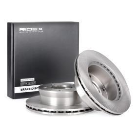 Pirkt 82B0234 RIDEX Priekšējais tilts, Ar iekšējo ventilāciju, ar skrūvēm Ø: 276mm, Urbumu skaits: 5, Bremžu diska biezums: 22mm Bremžu diski 82B0234 lēti